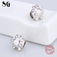 Fit Authentic Pandora 2017 Charms 925 Sterling silver original Antique Frog shape Bracelet Pendant Beads Jewelry for Gifts