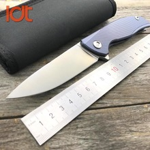 LDT Bear F95 Icebreaker Folding Knife D2 Blade Titanium Handle Pocket Survival Knife Outdoor Camping Hunting Knives EDC Tools