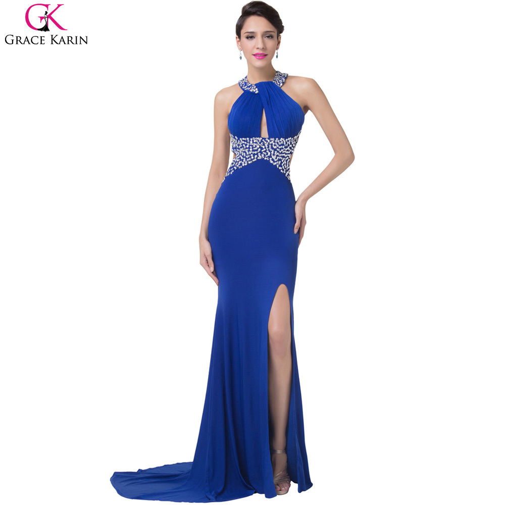 914a2c4d0cf Royal Blue Long Mermaid Evening Dresses Backless Prom Gowns - Gomes ...