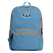 Kiitos Life Fresh canvas embroidery backpacks school in YOUNG series(FUN KIK store)