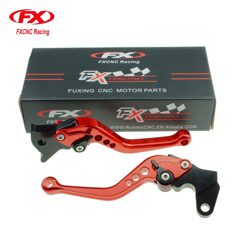FXCNC Aluminum Adjustable Motorcycles Brake Clutch Levers For Yamaha YBR250 YBR125 FAZER DT125 RE DT125 R YZ WR 125 250 500 fxcnc aluminum adjustable motorcycles brake clutch levers for yamaha fzr600 1989 2003 2000 2001 2002 moto brake clutch lever