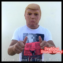 Hot Sale Funny New USA President Human Face Mask Props Donald Trump Overhead Latex Masks For Halloween 2016 Free Shipping!!!