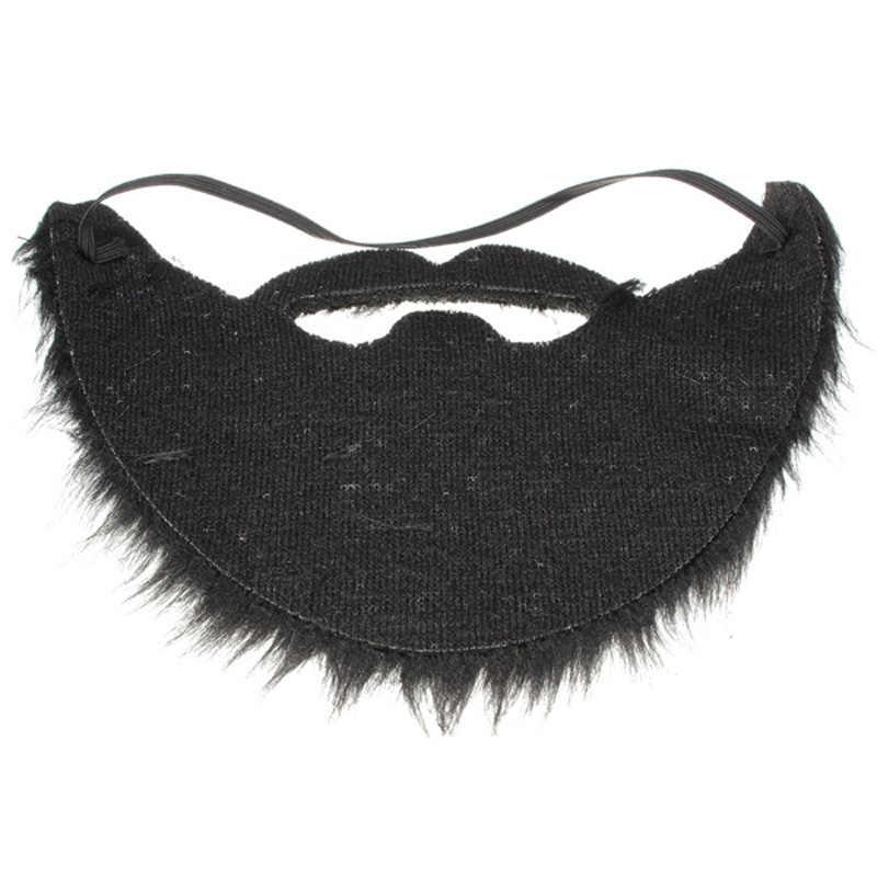 2016 Venta caliente barba falsa hombre barbudo divertido bigote barba franela Halloween fiesta accesorios 5zHH058