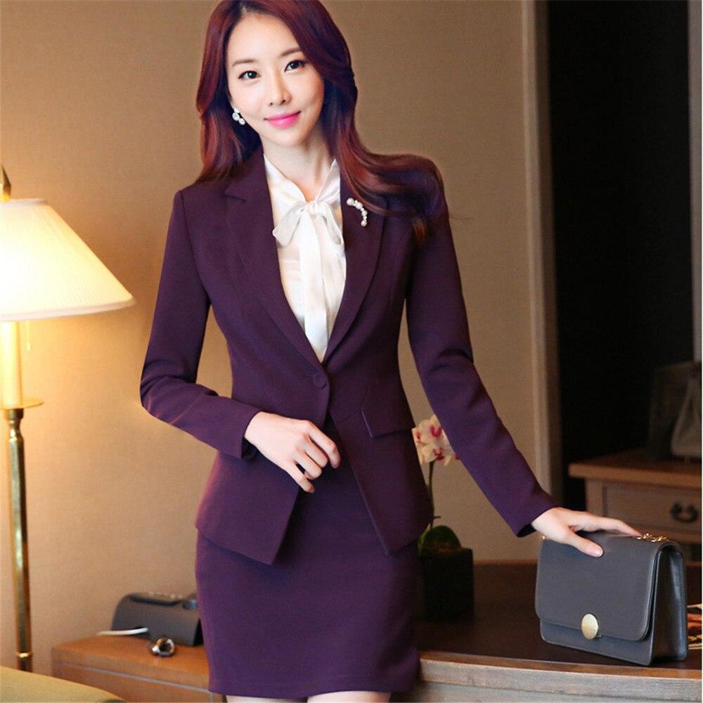 3ccca1955e2 Aliexpress.com   Buy 2018 Formal Female Purple Blazer Women Elegant blazer  Jacket Women business Slim Ladies Business coat Office Uniform Styles from …