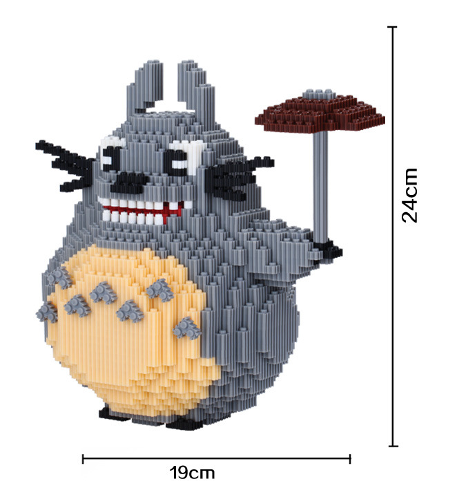xizai Connection Blocks Big Size Totoro Building Blocks Anime Juguetes Assemblage Toys 3D Auction Figures Toys for Children 8003
