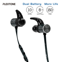 Plextone BX343 Sport Wireless Headphone Bluetooth Headset IPX5 Waterproof Earbuds Magnetic Earphones With Microphone For IPhone