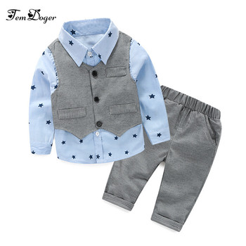 2016 baby Boys Wedding Clothes Kids Formal Suit Boy Shirt+Vest+Pants Outfits baby clothing set  Children Clothing Set shirt bow knot vest pants 4pcs suit kids boys suits formal costume gentleman suit wedding suit boy children party clothes