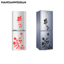 Free shipping high quality creative refrigerator sticker butterfly pattern wall stickers home decor high quality colorful leather pattern removeable wall stickers