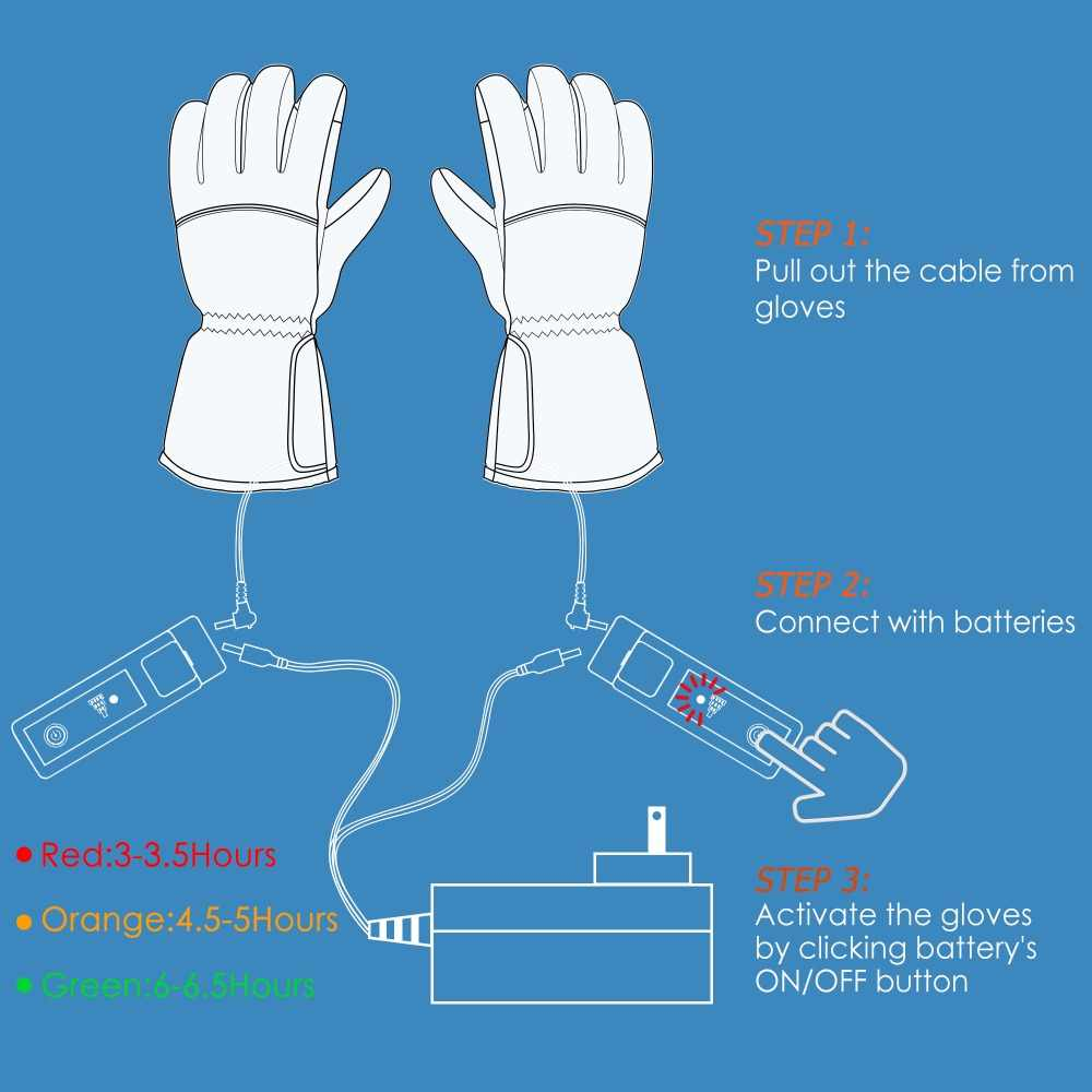 hight resolution of 3 7v rechargeable battery heated gloves for men women