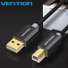 Vention Cable USB dorado para impresora tipo B Cable USB 2,0 macho A macho para impresora de etiquetas Canon, Epson, HP, ZJiang