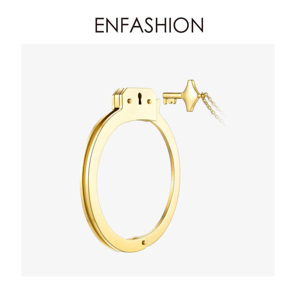 Enfashion kajdanki mankiet bransoletka Manchette złoty kolor ze stali nierdzewnej stalowa bransoletka bransoletka dla kobiet bransoletki bransoletki BD172003