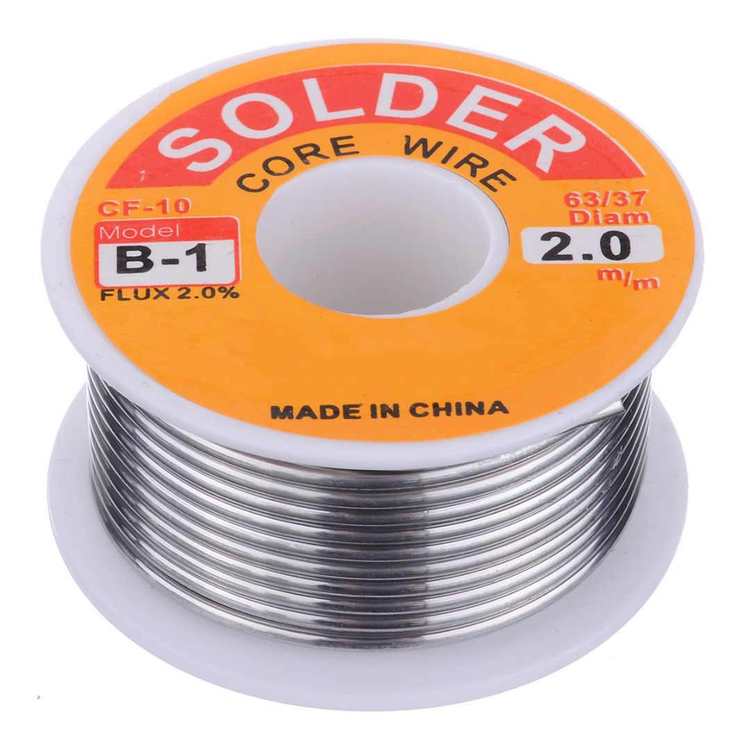2.0% لحام الجريان لحام سلك 50 جرام/100 جرام 63/37 روزين الأساسية لحام القصدير الرصاص لحام الحديد بكرة أسلاك 0.8 مللي متر/1.0 مللي متر لحام أداة