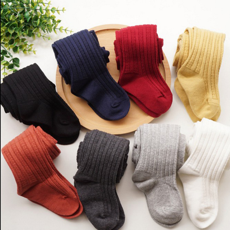 8 Colors Baby Girls Cotton Tights   Children Solid Pantyhose  Warm  Tights For Girls Kids Clothing