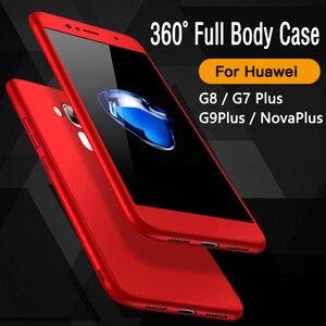 Image 2 - 360 caso capa completa em huawei gx8 caso g8 g 8 rio l03 l02 l01 capa para huawei gx8 gx 8 RIO L01 RIO L02 com vidro temperado