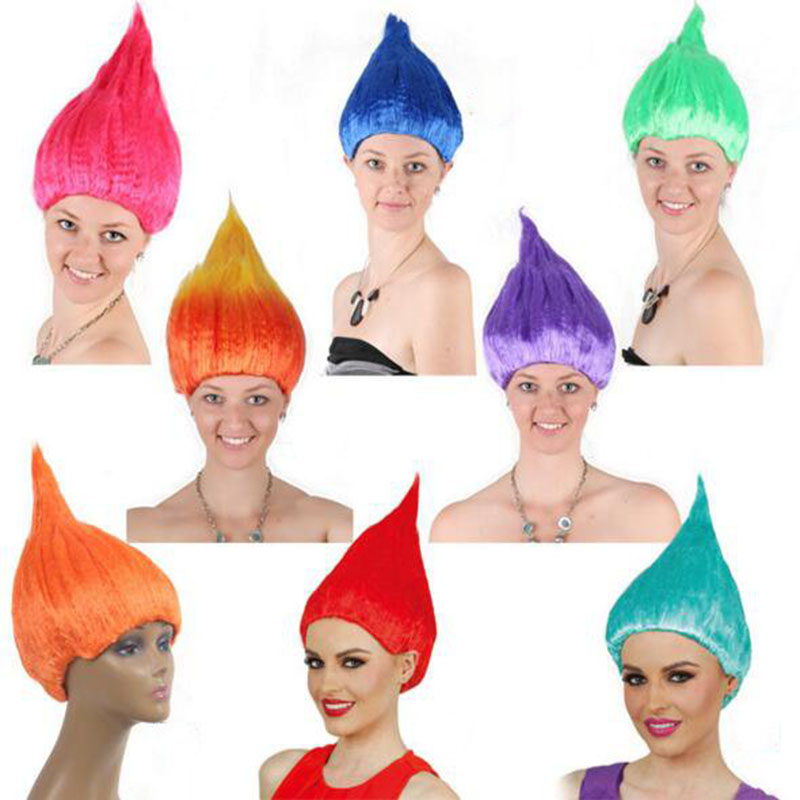 cosplay personality Festival red mermaid synthetic hair men women headpiece HalloweenTro ...