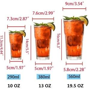 Image 4 - 6 個プラスチックビールカップ透明飲料タンブラーブレイク耐性飲料再利用可能なレストランタンブラージュース茶バーパーティー