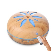 500ML Aroma Essential Oil Diffuser Ultrasonic Air Humidifier With 7 Color LED Lights For Home Ultrasonic