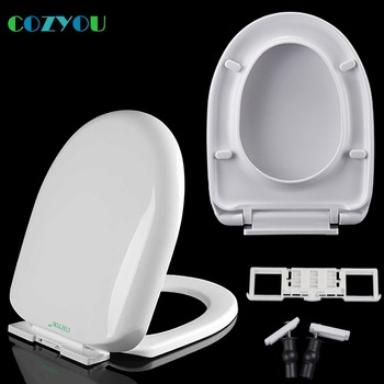 Toilet seat thicker U shape New PP5 Material Slow Close Quick Release Easy Clean, W 33.5 to 34cm, L 42.8mm to 45.3cm, GBP17260PU