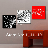 Abstract Plant of Floating Branch Landscape Hand Painted Leaf Oil painting On Canvas by skillful Painter for Indoor Decoration