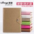 LANGE спираль искусственная кожа бизнес ноутбук Корея креативный Дневник Блокнот приданая бумага 1 шт