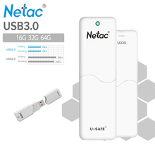 Netac Original U335 USB 3.0 Flash Drive16GB 32GB 64GB Pen Drive Hardware Write Protection Memory Stick U Disk Thumb Pendrive