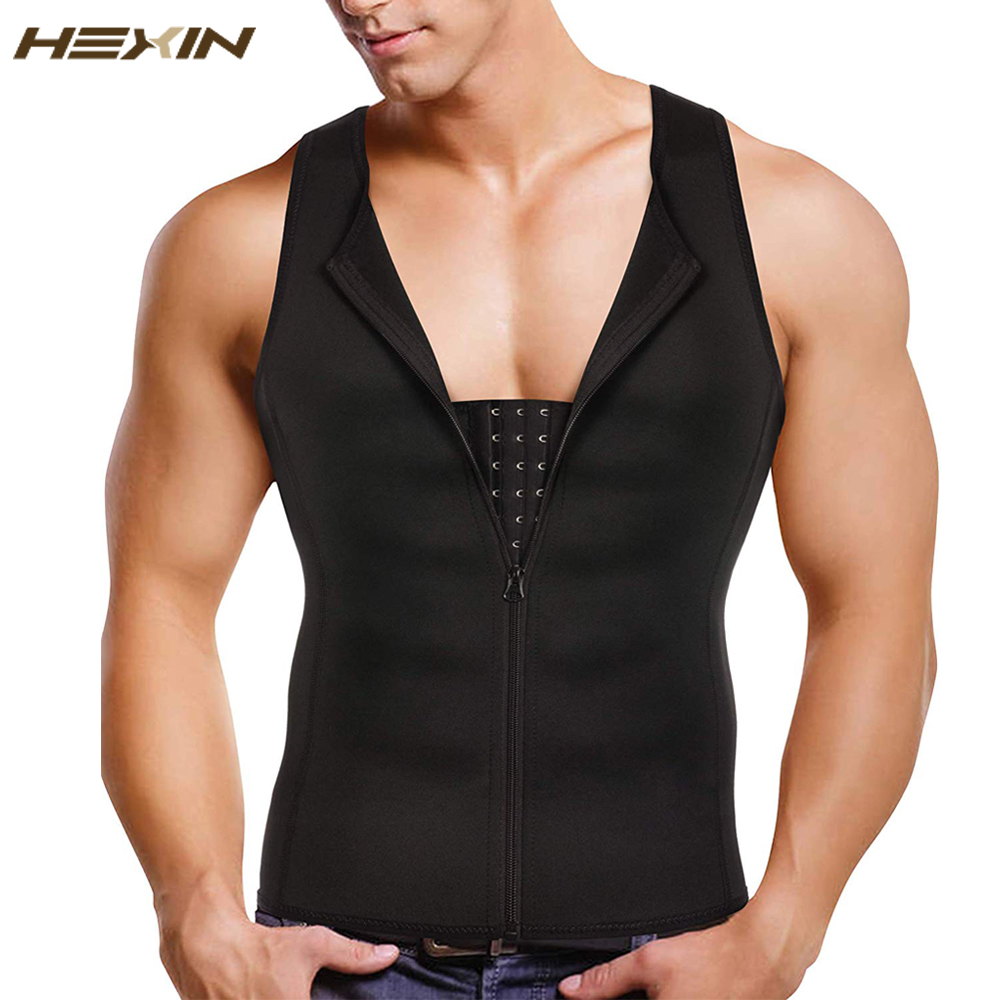 HEXIN Man Shaper Male Waist Trainer Cincher Corset Men Body Modeling Belt Tummy Slimming Strap Fitness Sweat Shapewear