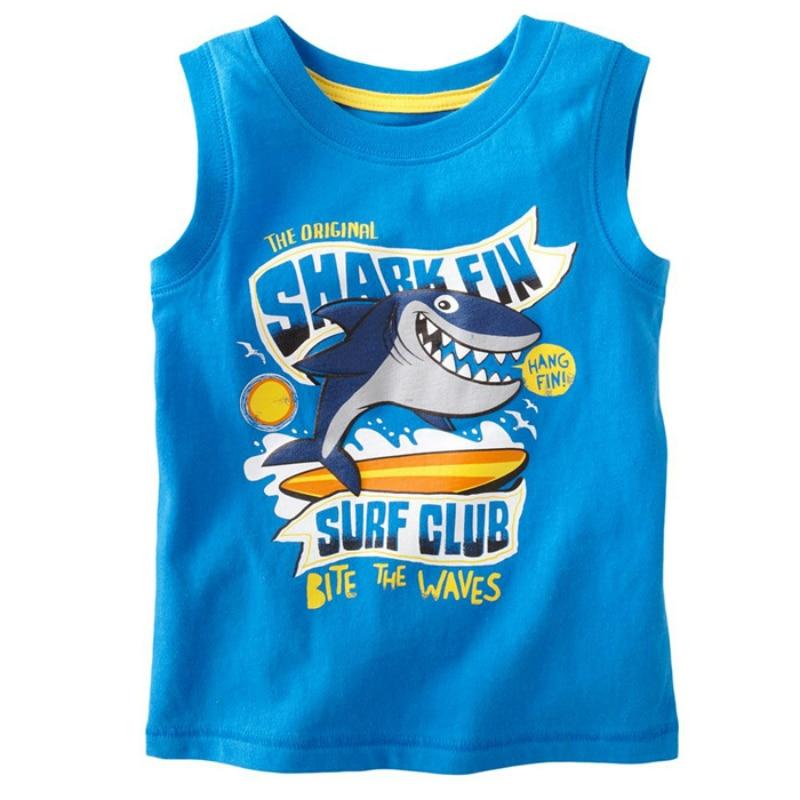 Boys Sleeveless T Shirts For Children 2017 Cute Cartoon ...