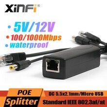 48V כדי 5V 3A rpi4 פעיל PoE ספליטר 12V עמיד למים Gigabit מיקרו USB סוג C poe עבור פטל Pi 4 4B IEEE802.3af/באופן 100/1000M
