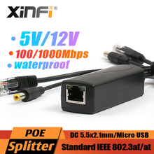 48V To 5V 3A Rpi4 Active PoE Splitter 12Vกันน้ำGigabit Micro USBประเภทC Poeสำหรับraspberry Pi 4 4B IEEE802.3af/100/1000M
