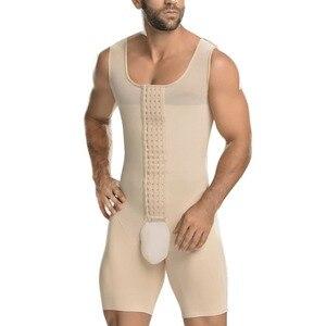 Image 1 - 연인 미용 슬리밍 바디 셰이퍼 플러스 사이즈 6XL Tummy 셰이퍼 조끼 속옷 코르셋 허리 Cincher 남성 Bodysuit