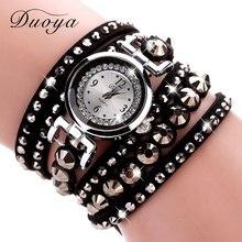 Новый Duoya  Модные Серебряные Часы Женские Роскошные Браслет Часы Для Женщин Наручные Кварцевые Vintage Повседневные Часы