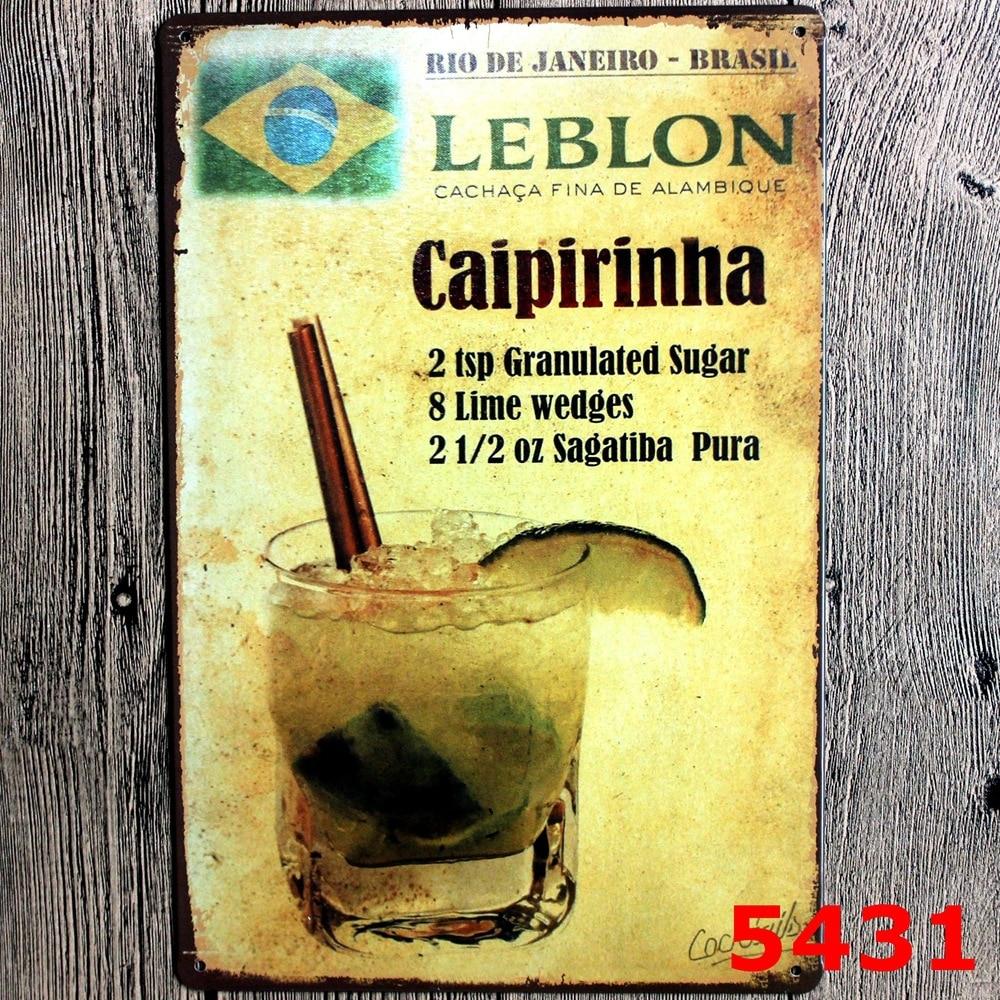 online get cheap tin sign caipirinha -aliexpress | alibaba group