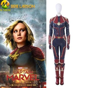 2019 Newest Captain Marvel Cosplay Costume Carol Danvers Cosplay Costume  Jumpsuit