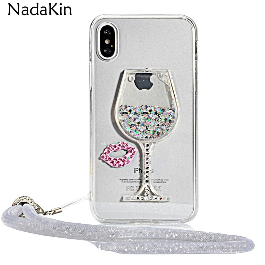 Liquid Quicksand Wine Glass Clear Soft TPU Case for Samsung Galaxy A3 A5 A7 A8 J1 J2 J3 J5 J7 Prime Max Pro 2016 2017 2018 EU US