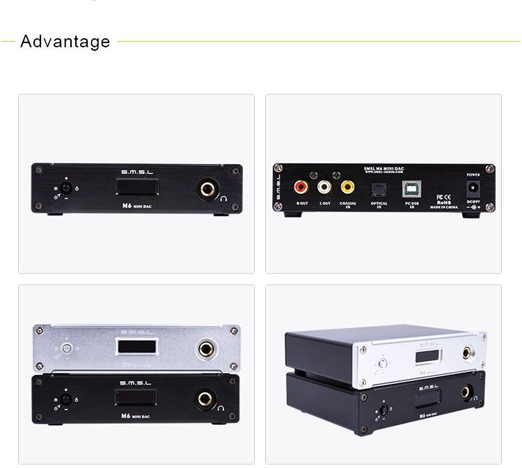 SMSL M6 HIFI Audio Decoder 32Bit384KHz USB asynchronous DAC Multifunction amp     12