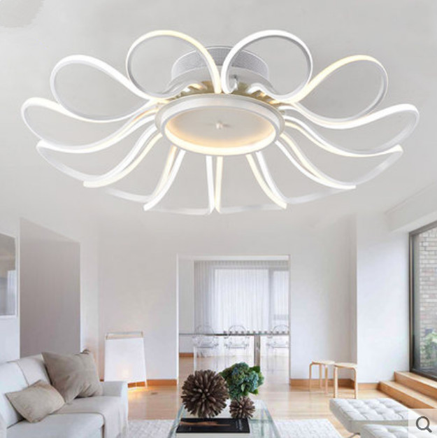 Aliexpress Buy Postmodern Led Ceiling Living Room Lamps Bedroom Den Restaurant Atmosphere Creative Arts Promise Dimming Lights 8 10 12 Heads From