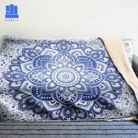 GNORRIS Mandala Oversized Famil Lambskin 3D Print Super Soft Warm Throw Blanket Nether Sofa Lazy Bedding Blanket Cloak|Throw| |  -