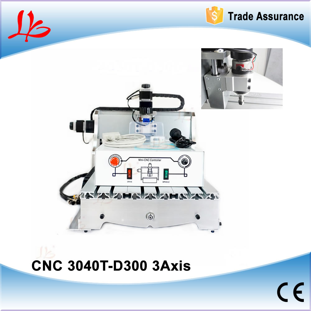 Best price CNC Router 3040 T-D 300w spindle , 110/220V best price 5pin cable for outdoor printer