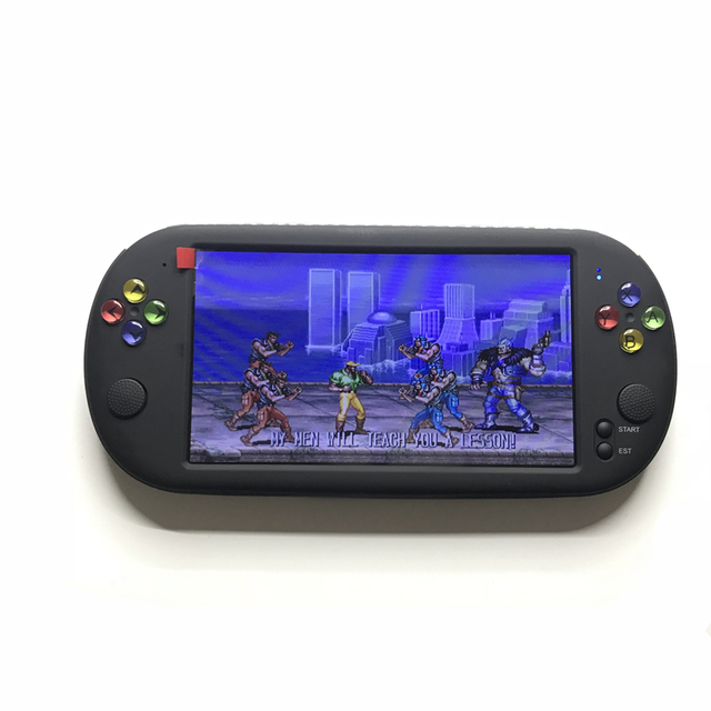 7 inch Portable Game Console Handheld with 1500 free retro mini games for neogeo arcade video game for snes 16 bit console