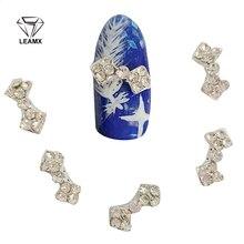 10 Pcs 3D New Alloy Bow Decoracao Nail Art Suppliers Diy Brilho Liga  Unhas Ferramentas Acessorios Cor Gem Rhinestone H15