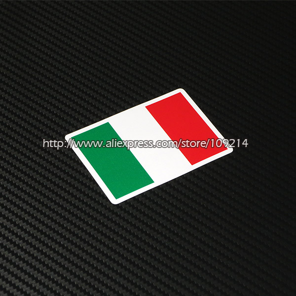 Hot sale Italian Italy flag Sticker Helmet Motorcycle Auto Decal Waterproof reflection GQ