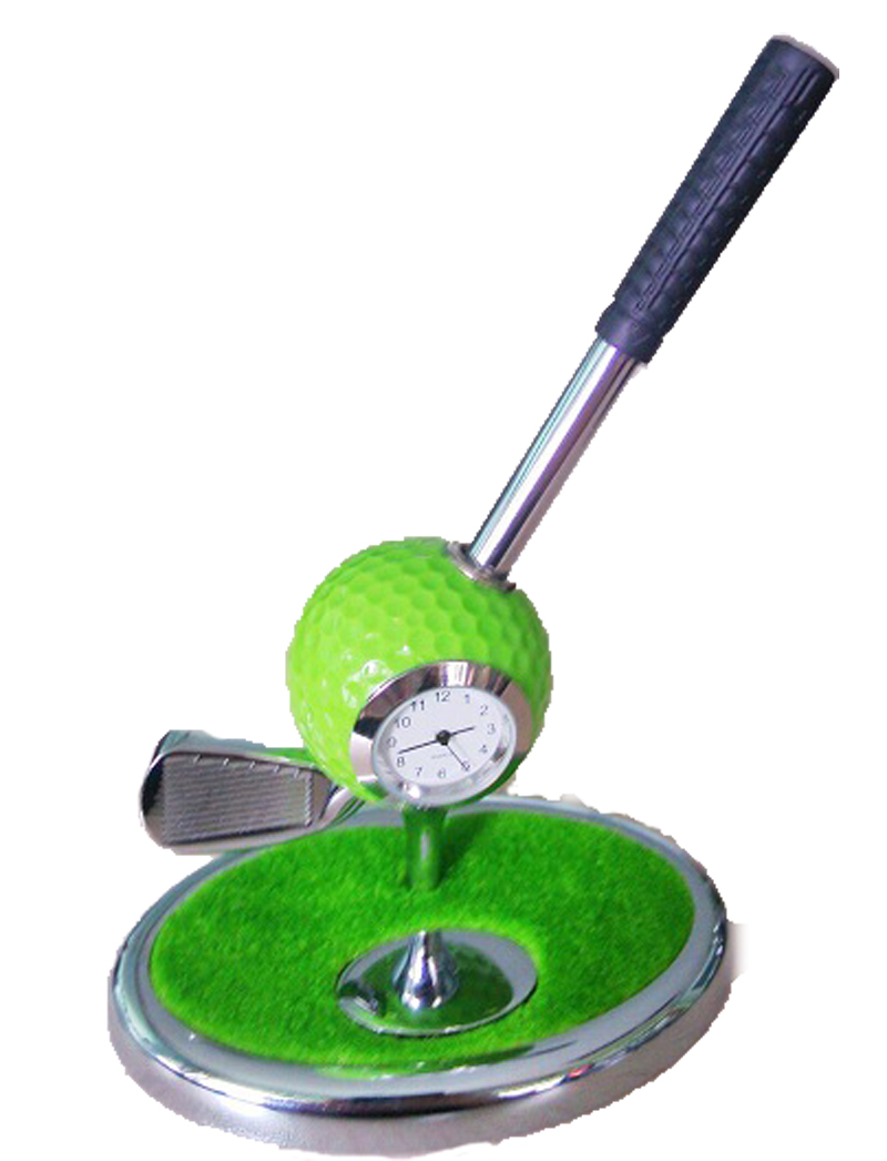 exquisite golf green base golf pen holder golf gift set