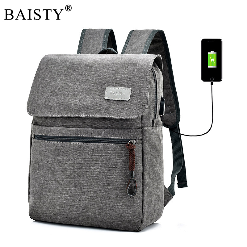 2017 Men Male Canvas Multifunction Backpack College Student School Backpack Bags for Teenager Casual Travel Daypack usb charging вильмонт е секрет маленького отеля