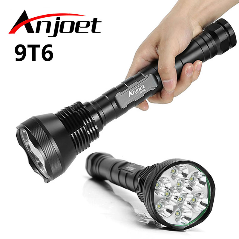 11000 lumen Flashlight 9*XML T6 LED Outdoor waterproof floodlight,torch,lantern,camping light, lamp, Hunting For 26650/18650 ultra bright tactical flashlight usb rechargeable 26650 16340 battery xml t6 led torch for camping security emergency use