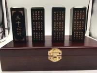 Природный Синьцзян Хотан нефрит печать тридцать шесть наборов каллиграфии и живописи энтузиастов