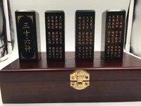 Natural Xinjiang Hetian jade seal thirty six sets of calligraphy and painting enthusiasts
