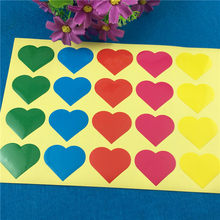 100Pcs 3.2x2.8cm Heart Shape Paper Sticker Labels for Jewelry Box Weeding Candy Festival Gifts Pack Seal Self-Adhesive Stickers(China)