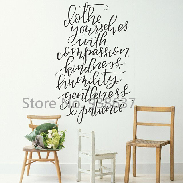 Text Wall Stickers Creative Home Decor Living Room Values Wall Decals Quote  For Office Self Adhesive Art Vinyl DIY Decal ZB401 In Wall Stickers From  Home ...