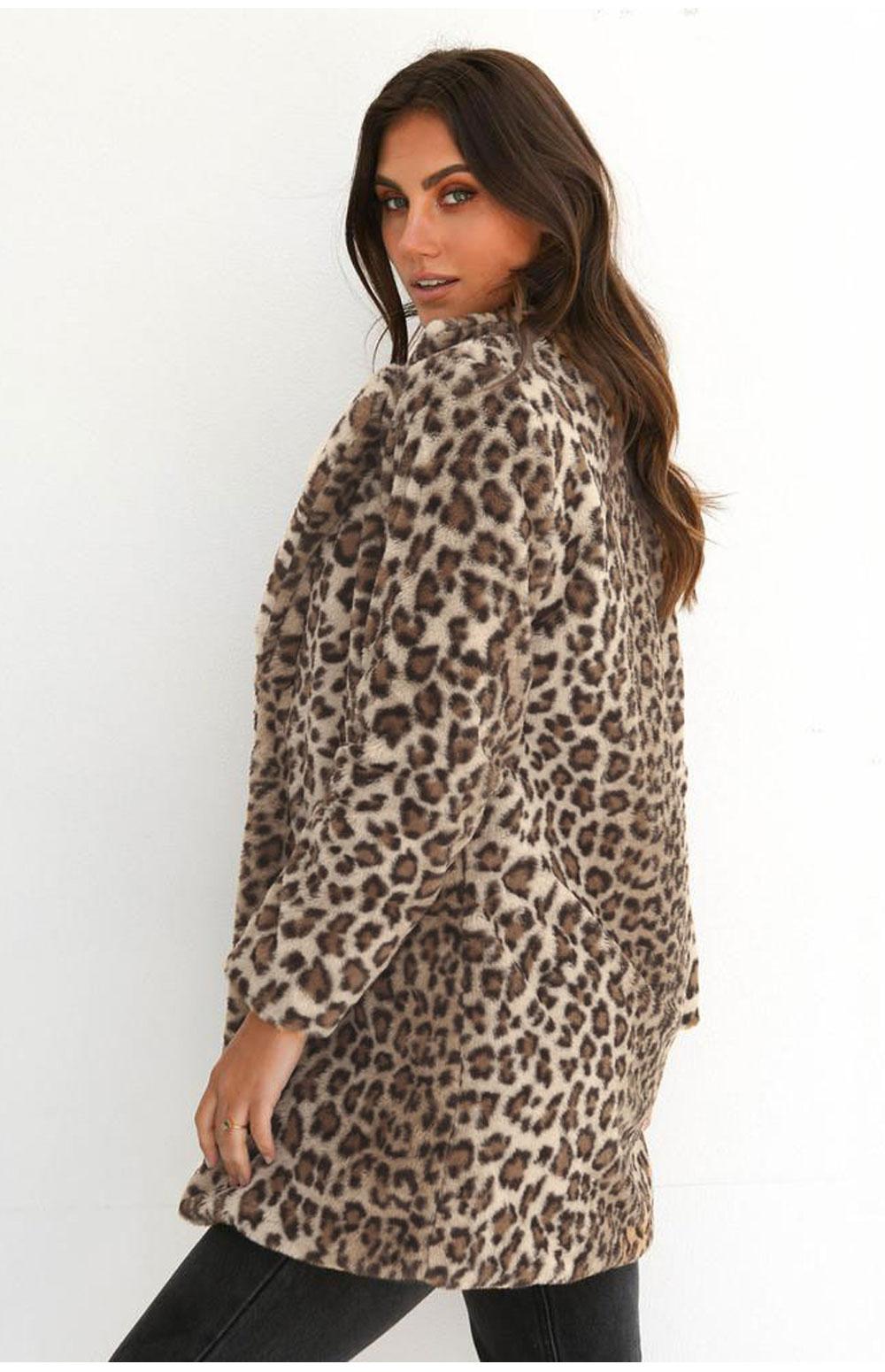 HTB1u3PkXEjrK1RkHFNRq6ySvpXas Hirigin 2018 Newest Hot Womens Winter Leopard Fluffy Fleece Jacket Coat Cardigans Hooded Jumper Tops Clubwear