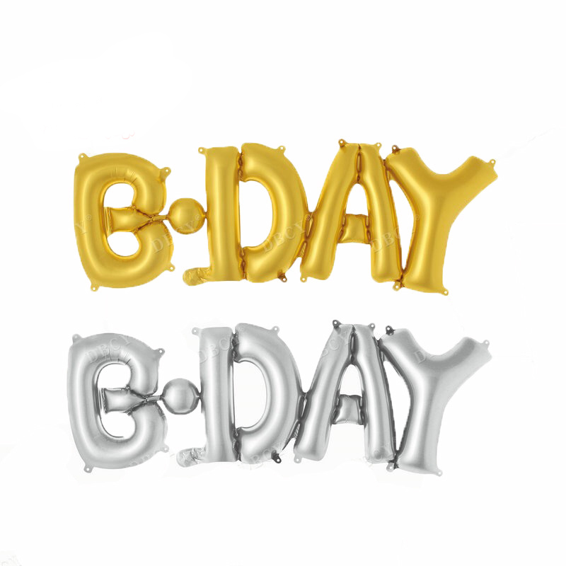 Happy bday connection letters foil balloons birthday for B day decoration photos